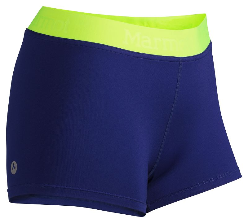 Marmot Wm's Motion Short Midnight Purple/Hyper Yellow-30