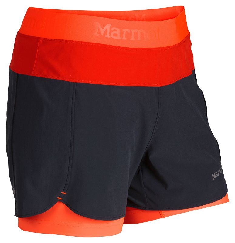 Marmot Wm's Pulse Short Dark Steel/Bright Orange-30
