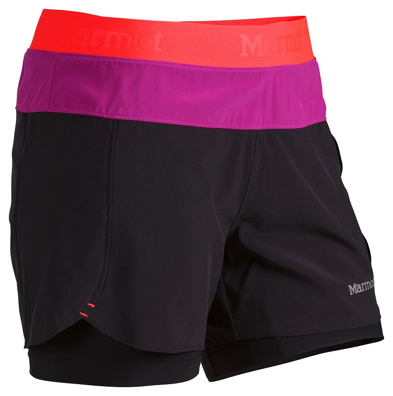 Marmot Wm's Pulse Short Black/Bright Pink-30