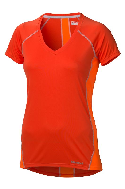 Marmot Wm's Zeal SS Coral Sunset/Bright Orange-30