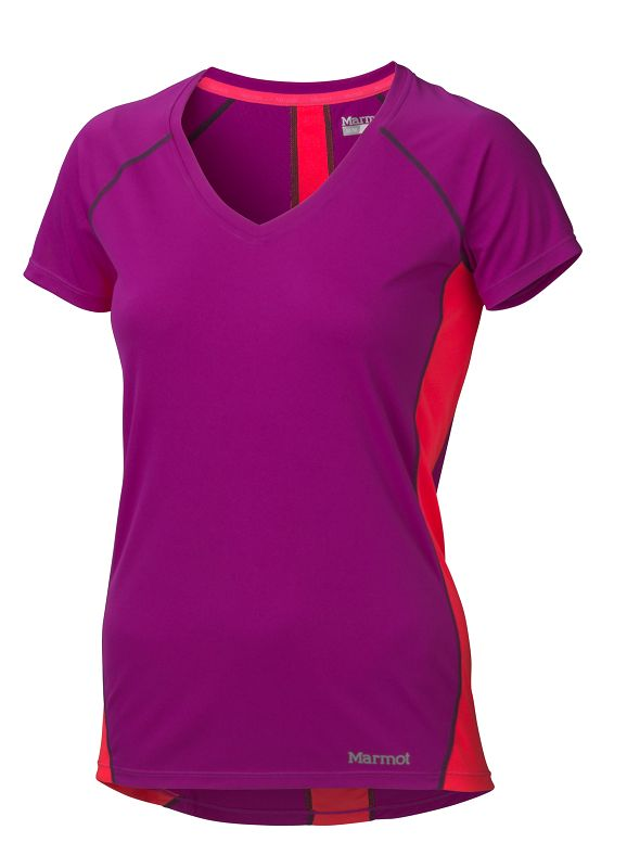 Marmot Wm's Zeal SS Beet Purple/Bright Pink-30