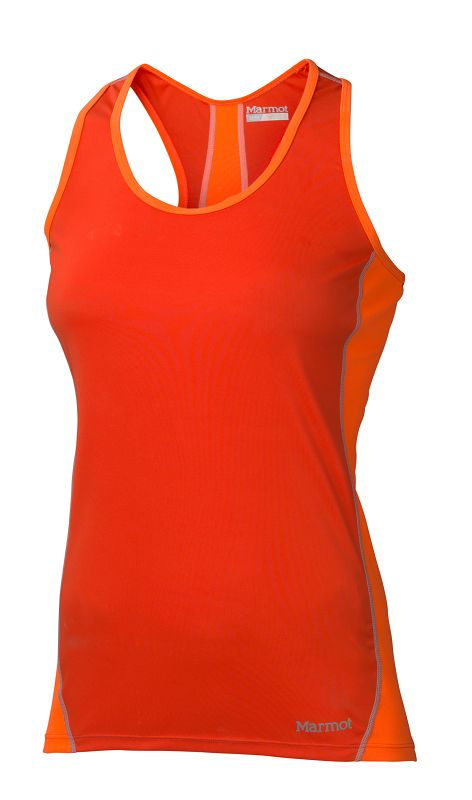 Marmot Wm's Zeal Tank Coral Sunset/Bright Orange-30