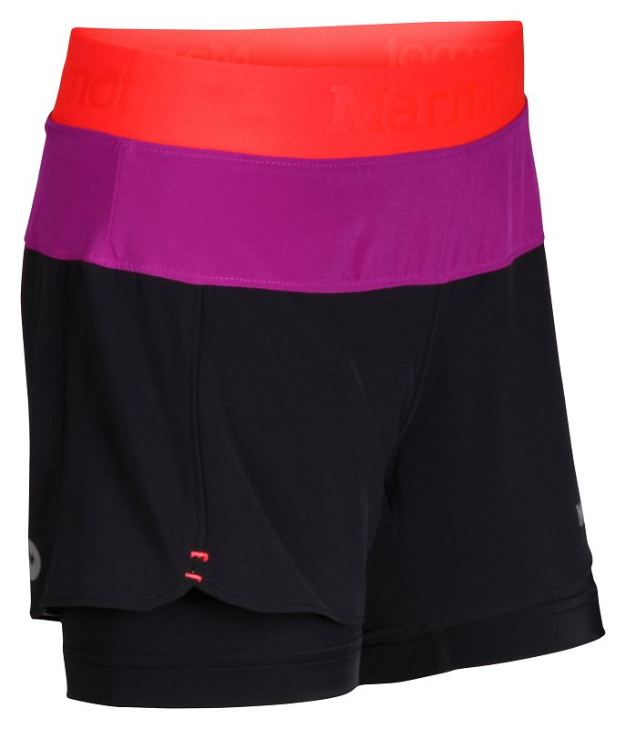 Marmot Girl's Pulse Short Black/Bright Pink-30