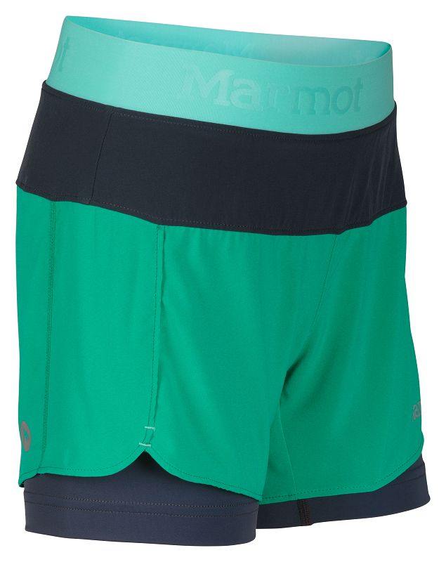 Marmot Girl's Pulse Short Gem Green/Ice Green-30