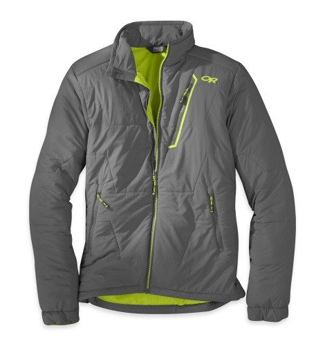 Outdoor Research - Men´s Superlayer Jacket 054-PEWTER/LEMONGRASS - Isolation & Winter Jackets -