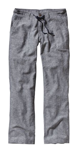 Patagonia Plumb Line Pants Chambray: Navy Blue-30