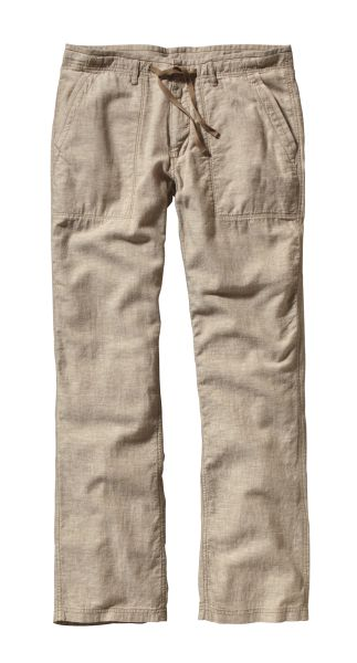 Patagonia Plumb Line Pants Chambray: Ash Tan-30