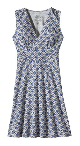 Patagonia Margot Dress Addison: Railroad Blue-30
