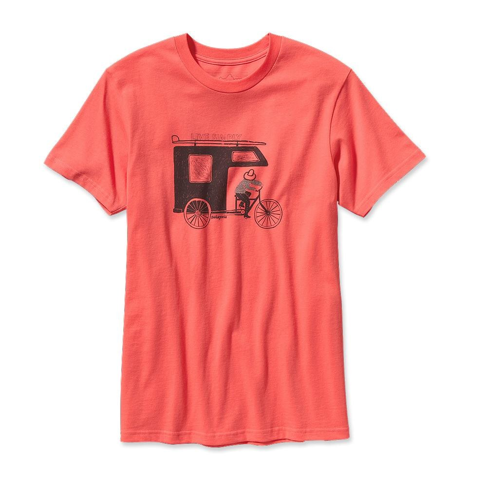 Patagonia Live Simply Trailer T-Shirt Coral-30