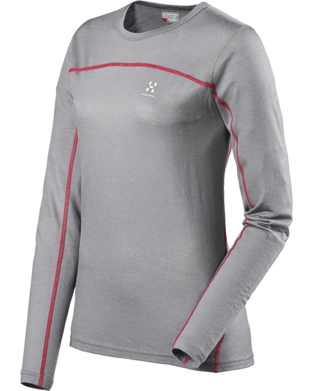 Haglofs Actives Merino Q Roundneck Granite-30