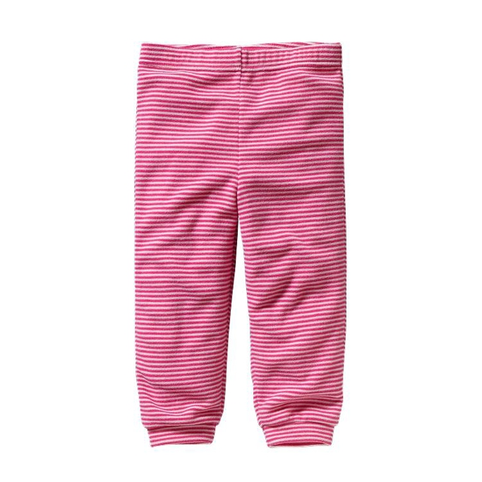 Patagonia - Baby Micro D Bottoms Jennystripe:  Lt Rosy Posy/Radiant Magenta - Pants - 5T