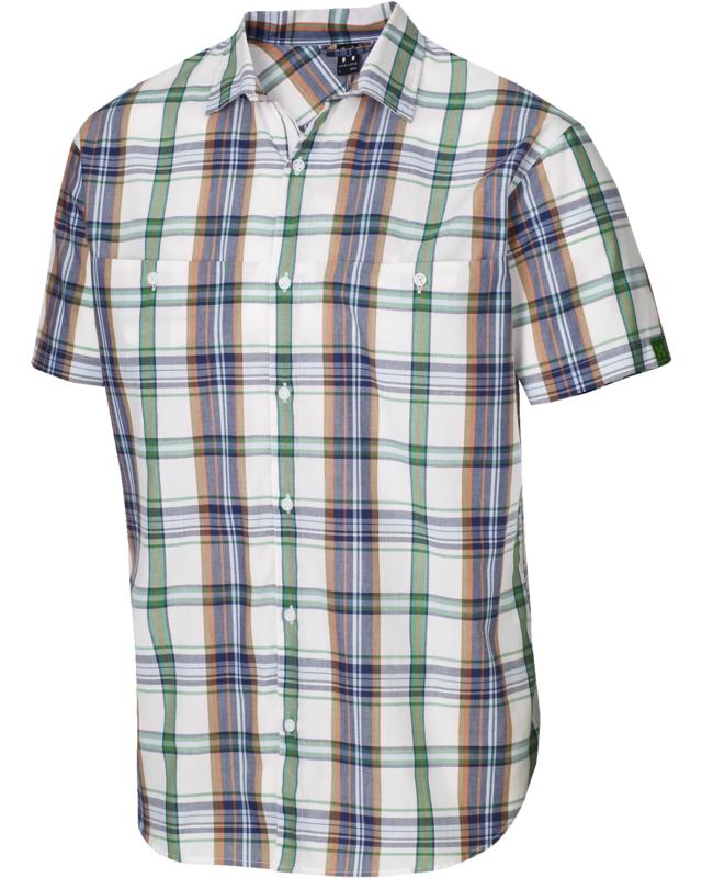 Haglofs Kaha SS Shirt Softwhite/Ginko Green-30