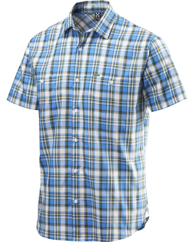 Haglofs Kaha SS Shirt Men Gale Blue/Juniper-30