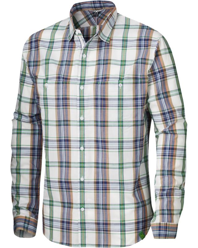 Haglofs Kaha LS Shirt Softwhite/Ginko Green-30