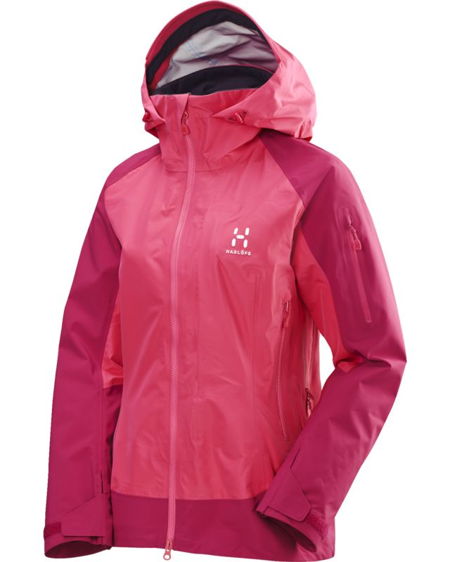 Haglofs Roc High Jacket Women Volcanic Pink/Cosmic Pink-30