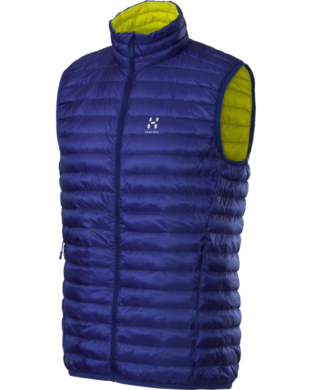 Haglofs Essens II Down Vest Noble Blue/FireFly-30