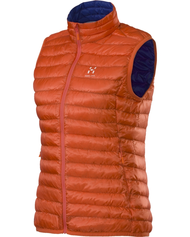 Haglofs Essens II Q Down Vest Firecracker/Noble Blue-30