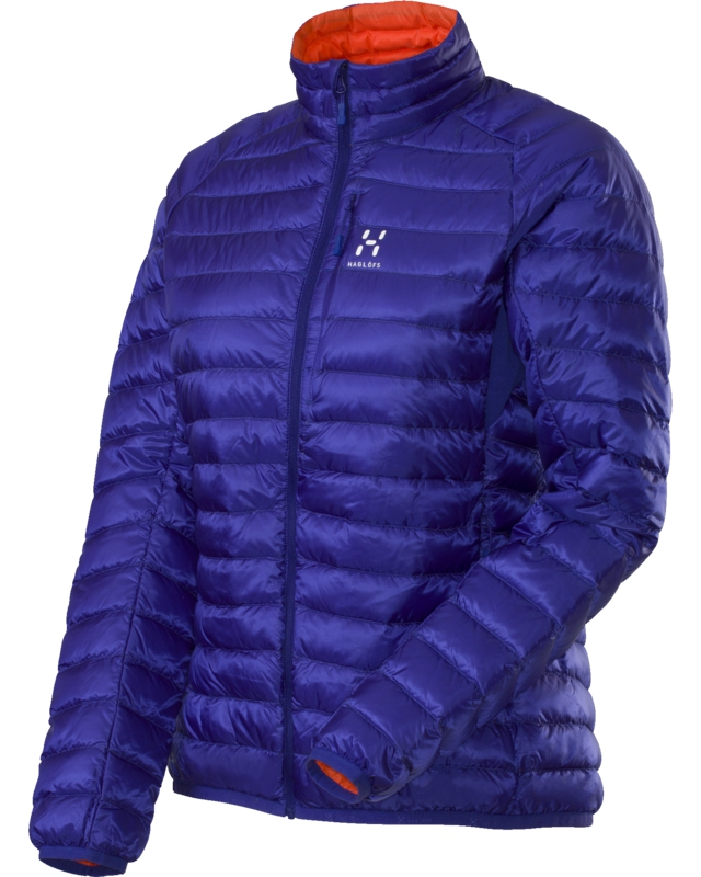 Haglofs Essens II Q Down Jacket Noble Blue/Firecracker-30