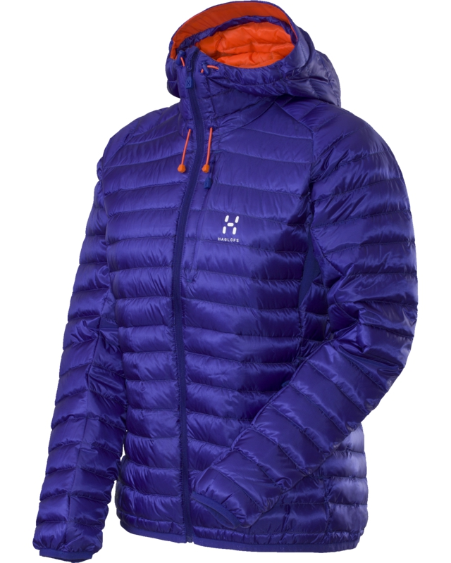 Haglofs Essens II Q Down Hood Noble Blue/Firecracker-30
