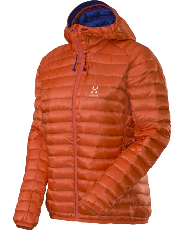 Haglofs Essens II Q Down Hood Firecracker/Noble Blue-30