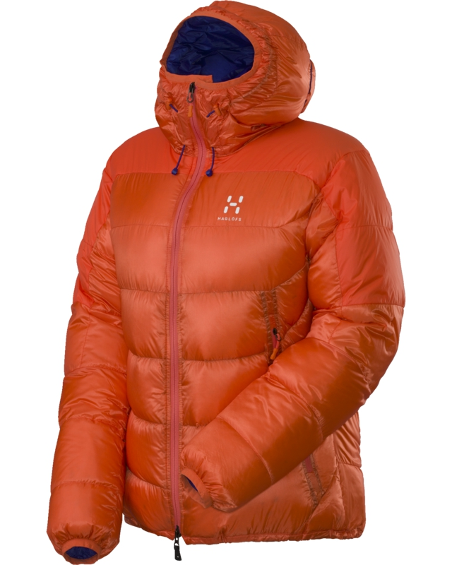 Haglofs Magi II Down Q Hood Firecracker/Noble Blue-30