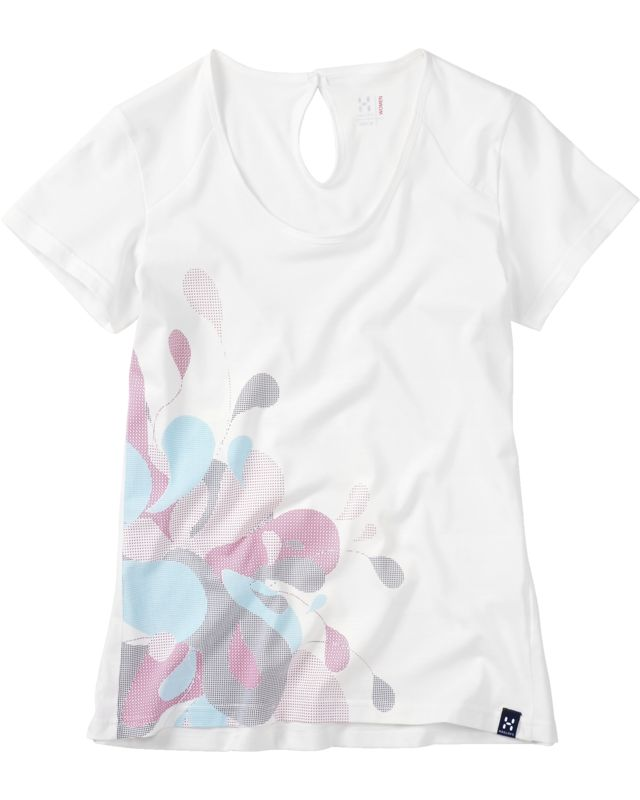 Haglofs - Apex Tee Women Soft White Graphic - T-Shirts -