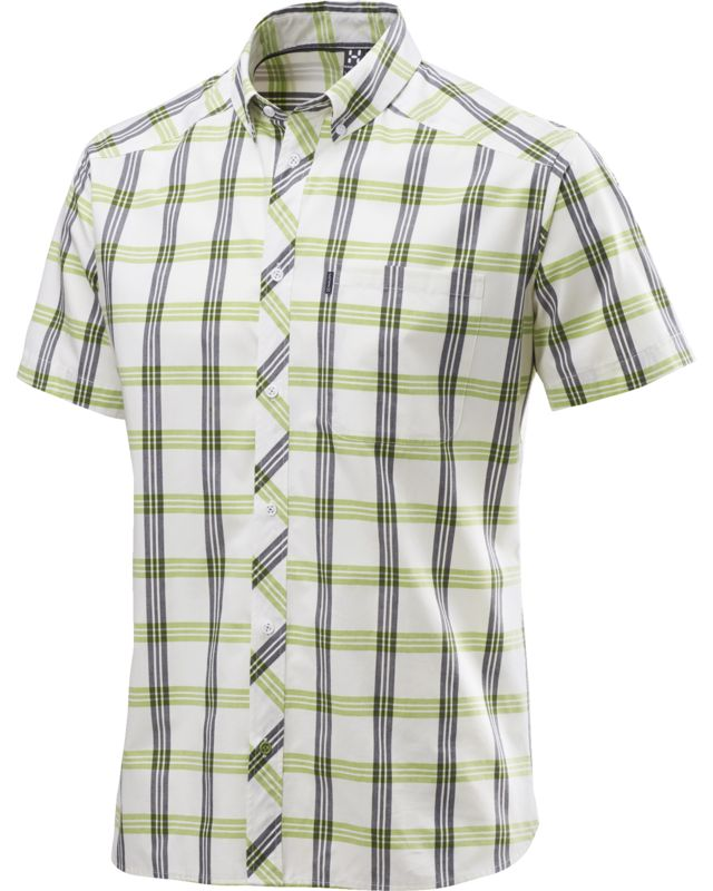 Haglofs Zuma SS Shirt Men Soft White/Lime Green-30