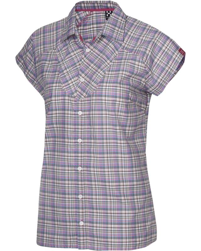 Haglofs Tana II Q SS Shirt Cosmic Pink/Juniper-30