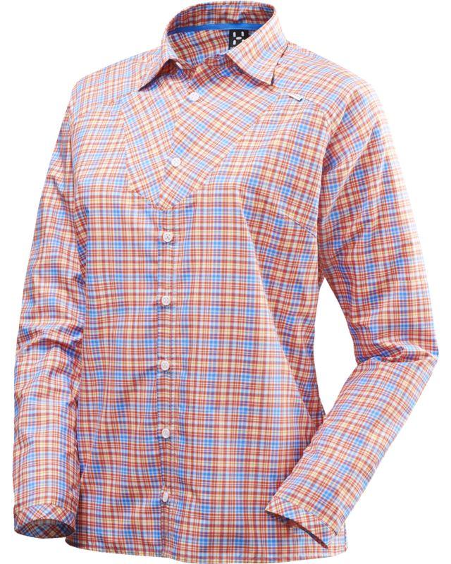Haglofs Tana II LS Shirt Women Carnelia/Gale Blue-30