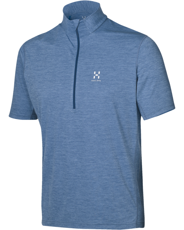Haglofs Ridge SS Zip Tee Hurricane Blue-30