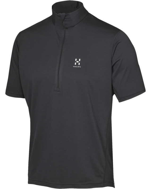 Haglofs Ridge SS Zip Tee True Black-30