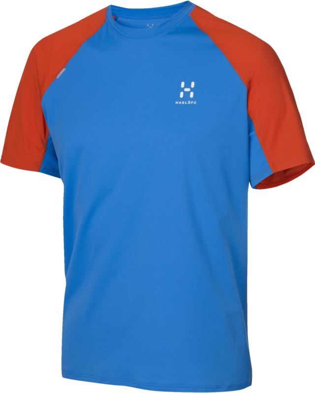 Haglofs - L.I.M Tee Gale Blue/Dynamite - T-Shirts -