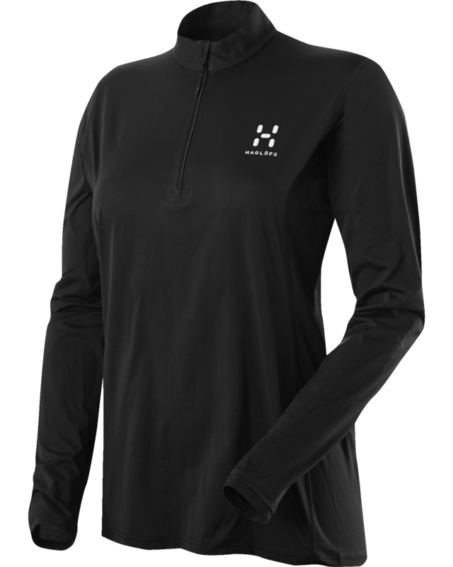 Haglofs L.I.M Q LS Zip Tee True Black-30