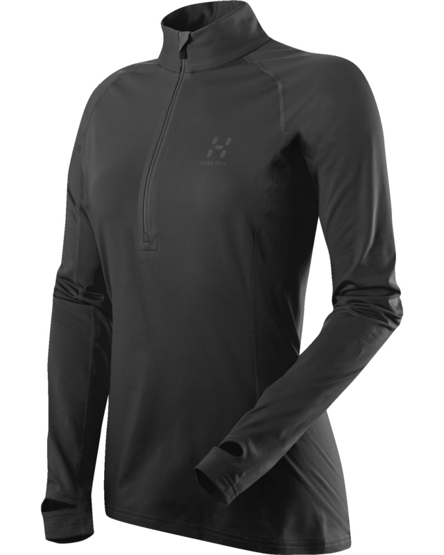 Haglofs Intense Q Zip Top True Black-30