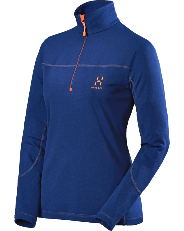 Haglofs Actives Warm II Q Zip Top Hurricane Blue-30