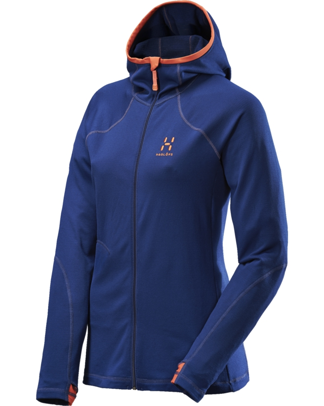Haglofs Actives Warm II Q Hood Hurricane Blue-30