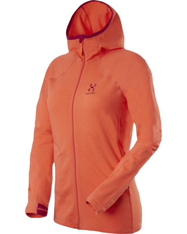 Haglofs Actives Warm II Q Hood Firecracker-30