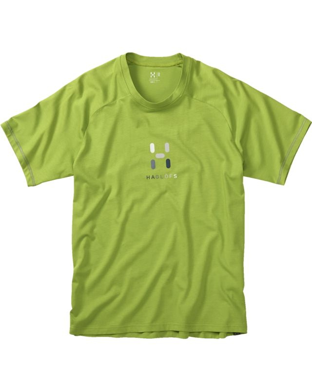 Haglofs Apex Logo Tee Men Lime Green-30
