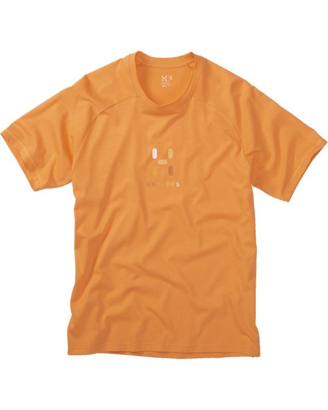 Haglofs Apex Logo Tee Men Saffron-30