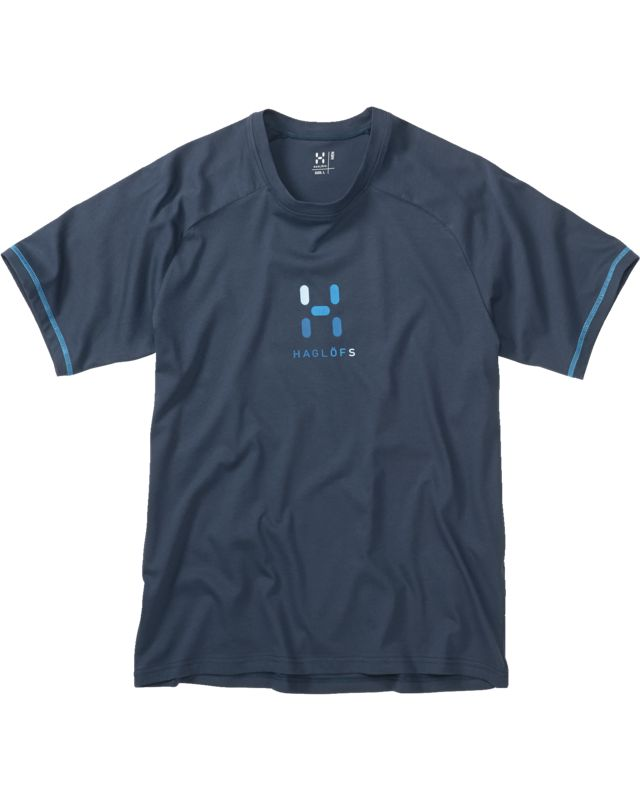 Haglofs Apex Logo Tee Men Deep Blue-30
