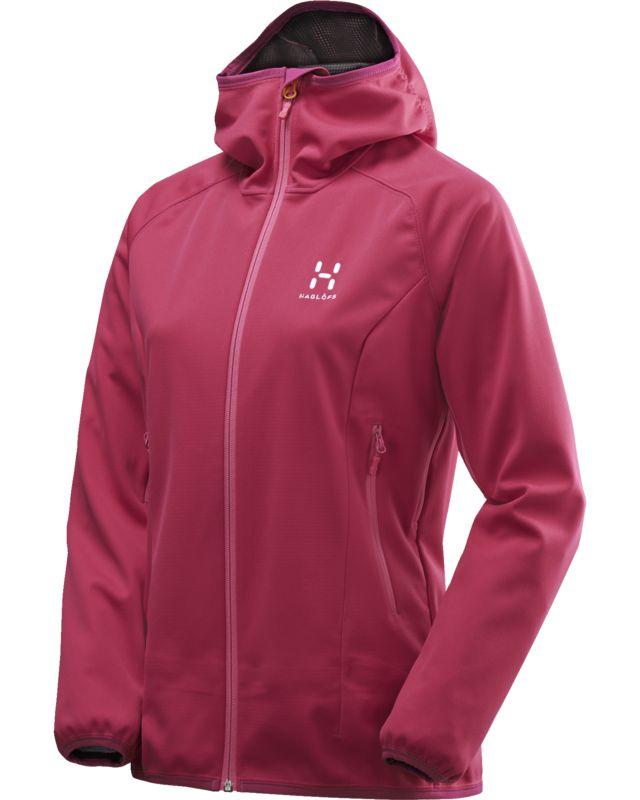 Haglofs Mistral Hood Women Volcanic Pink-30