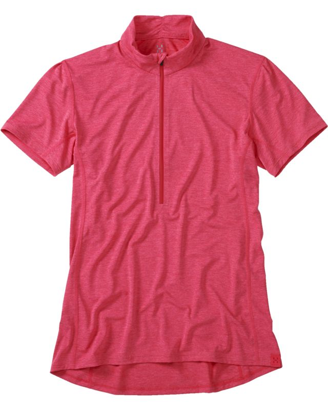 Haglofs Ridge SS Zip Tee Women Cosmic Pink-30
