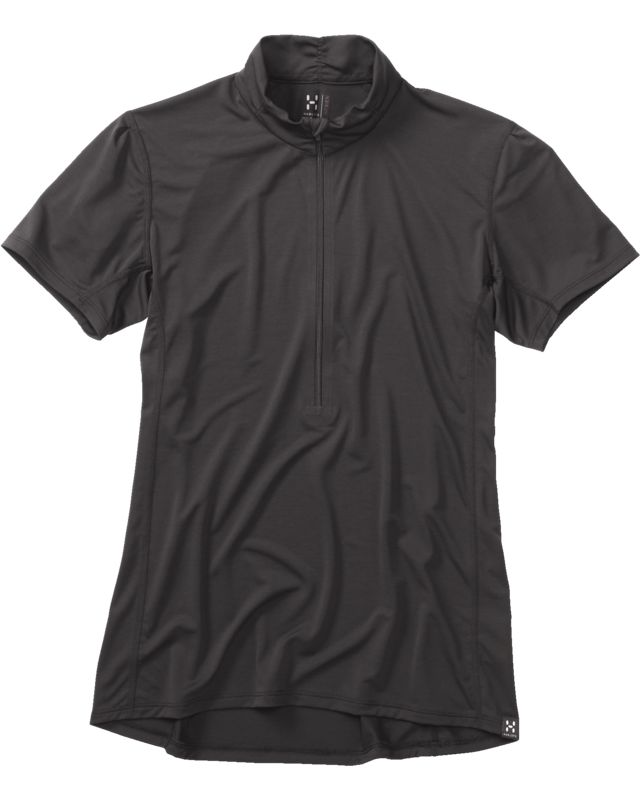 Haglofs Ridge SS Zip Tee Women True Black-30