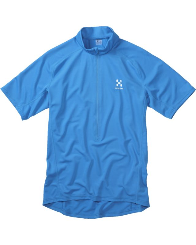 Haglofs Intense SS Zip Tee Men Gale Blue-30