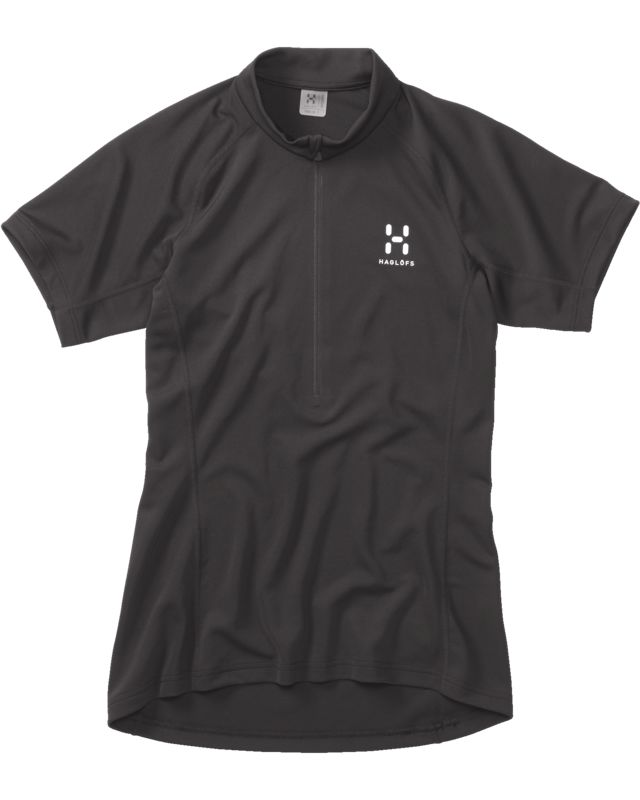 Haglofs Intense SS Zip Tee Women True Black-30