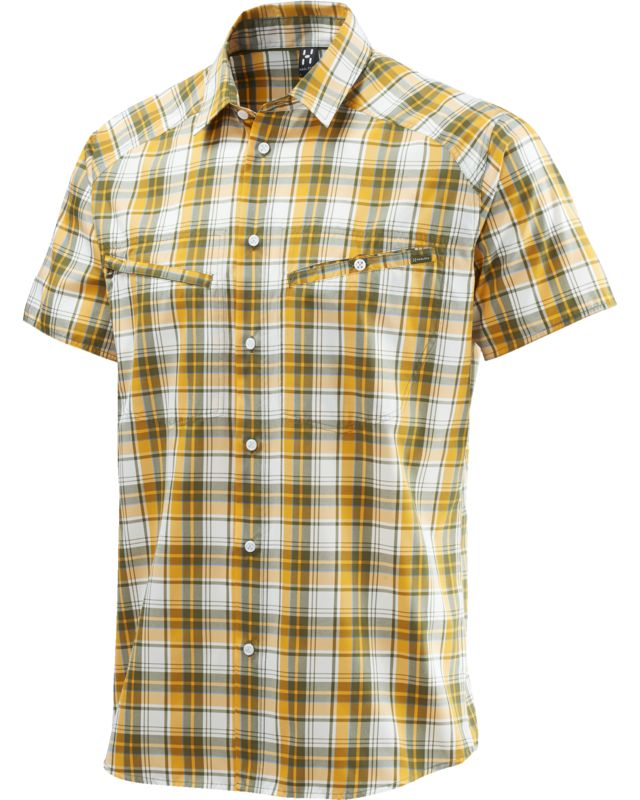 Haglofs Saba II SS Shirt Men Juniper/Sun-30