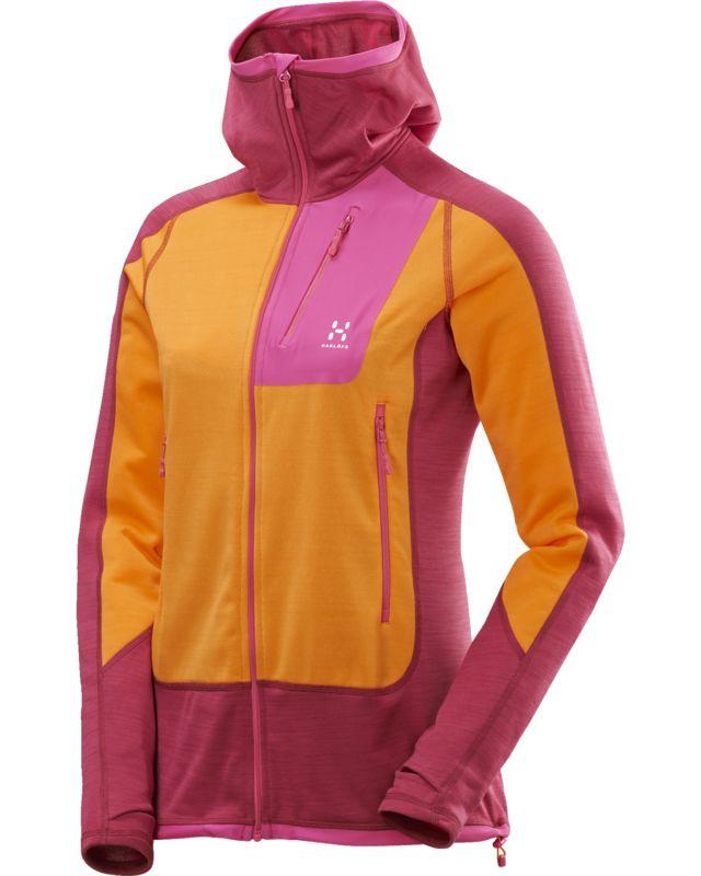 Haglofs Triton Pro Hood Women Volcanic Pink/Saffron-30