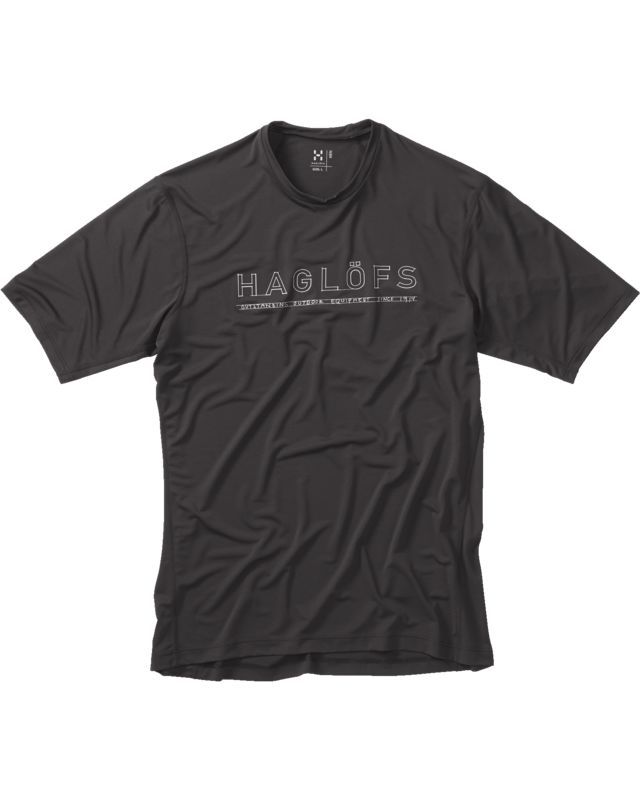 Haglofs Ridge II Tee Men True Black Lines-30