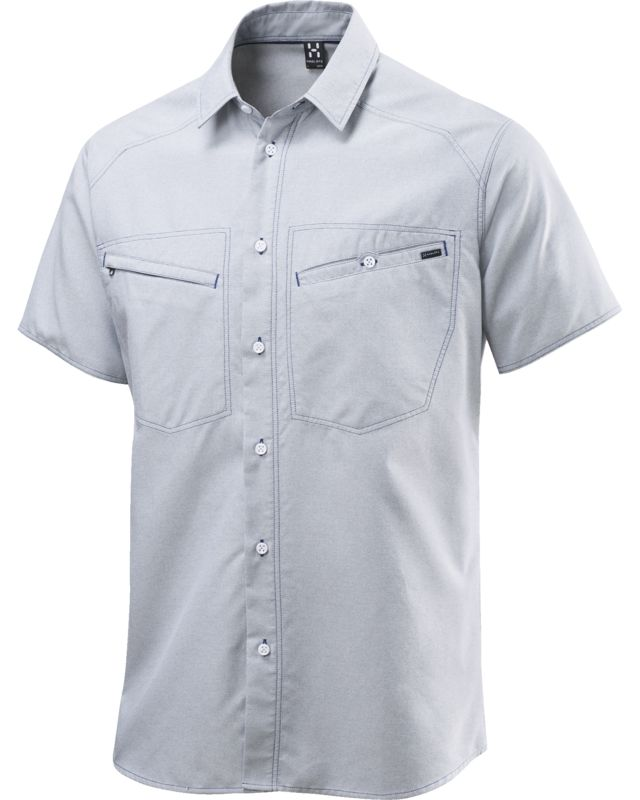 Haglofs Saba II SS Shirt Oxford Men Hurricane Blue Oxford-30