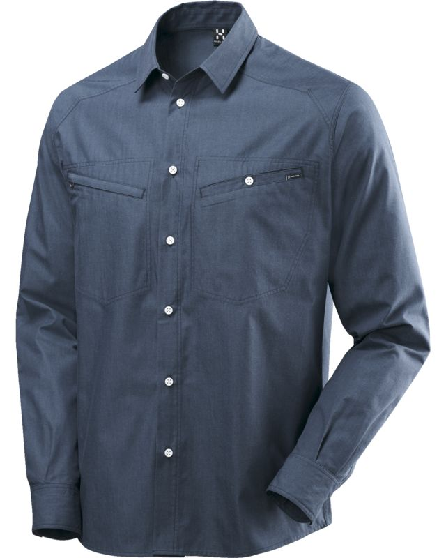 Haglofs Saba II LS Shirt Denim Men Deep Blue Denim-30